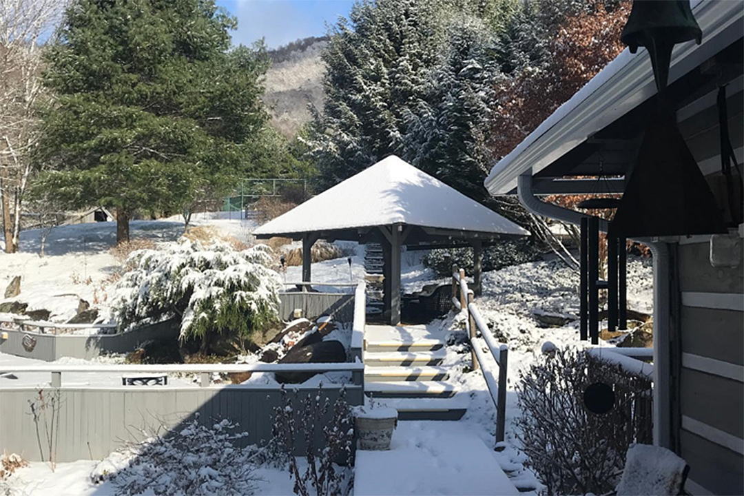 Creekside Inn - Clyde NC - Glimpse of Winter