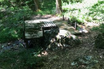 Picnic Table Over the Creek